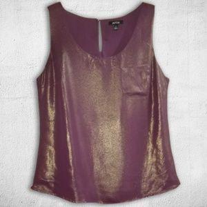 Sleeveless Shimmer Purple & Gold Top